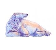 Медведь, акварель, эскиз, краска, животные, иллюстрация Стоковые Фото