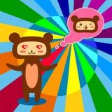 Медведь в влюбленности Стоковые Изображения RF