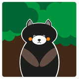 Медведь в лесе Стоковое Изображение RF