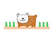 Медведь в лесе Стоковая Фотография