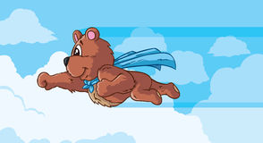 Медведь летая, часть серии. Стоковое Изображение