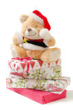 Медведь игрушки рождества Стоковое Изображение RF