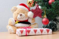 Медведь игрушки рождества Стоковая Фотография