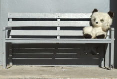 Медведь игрушки сидя на стенде Стоковое Изображение