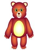 Медведь игрушки с стеклами Стоковая Фотография RF