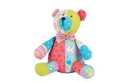 медведь изолировал белизну игрушечного стоковая фотография