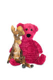 Медведь и лоси Стоковые Фото