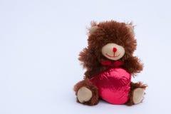 Медведь дня валентинок Стоковая Фотография