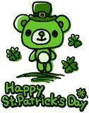 Медведь дня St. Patrick милый Стоковые Фотографии RF