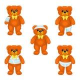 Медведь плюша Брайна с повязками вокруг различных частей своего тела Стоковая Фотография RF