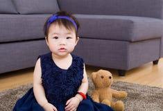 Медведь ребёнка и куклы Стоковая Фотография RF