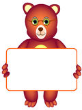 Медведь с афишей Стоковая Фотография