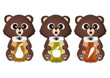 Медведь с соком иллюстрация штока