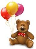 Медведь с шариками Стоковая Фотография