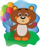 Медведь с шариками Стоковые Изображения
