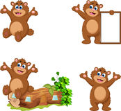 Медведь шаржа для вас дизайн Стоковое фото RF
