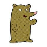 медведь шуточного шаржа развевая Стоковые Изображения RF