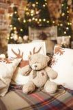 Медведь Christmasплюша Стоковая Фотография