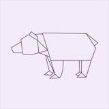Медведь Origami Стоковые Изображения
