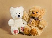 2 медведя - игрушки Стоковое Изображение