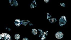 Медленно падая диаманты иллюстрация штока