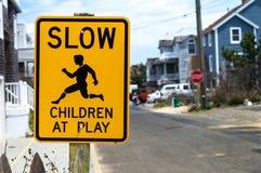 Медленные дети на игре Стоковая Фотография