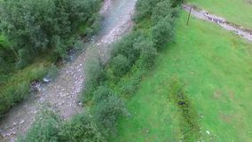 Медленный воздушный ландшафт снятый долины акции видеоматериалы