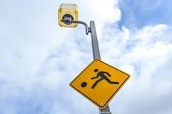 Медленный знак предосторежения детей Стоковая Фотография RF