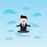 Медитативная концепция бизнесмена Стоковое Изображение RF
