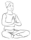 Медитация Стоковое Изображение RF