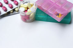 медицина на белой предпосылке Стоковая Фотография RF