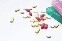 медицина на белой предпосылке Стоковые Фотографии RF