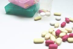 медицина на белой предпосылке Стоковое фото RF