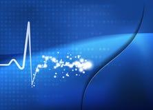 Медицинская абстрактная предпосылка биения сердца Стоковые Изображения RF