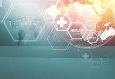 Медицинская абстрактная серия 100 концепции предпосылки Стоковое Изображение