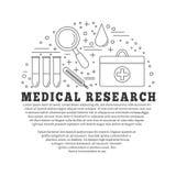 Медицинская диагностика, конструктивная схема графического дизайна проверки иллюстрация вектора