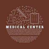 Медицинская диагностика, конструктивная схема графического дизайна проверки бесплатная иллюстрация