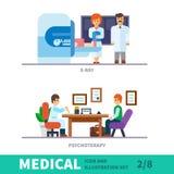 Медицинская иллюстрация приема на докторе Стоковое Изображение
