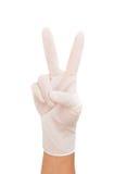 Медицинская перчатка к защите Стоковые Фотографии RF