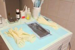 Медицинская подвижная уход за больным-таблица Стоковое фото RF