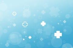 Медицинская предпосылка конспекта значка больницы, голубое illustr градиента стоковое фото rf