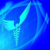 Медицинская предпосылка сердцебиений также вектор иллюстрации притяжки corel иллюстрация вектора