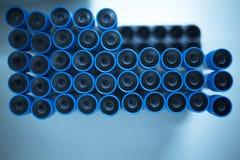 Медицинская плазма богачей бляшки трубок лабораторного исследования PRP Стоковое Фото