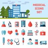 Медицинская плоская предпосылка Infographic Стоковое Изображение RF