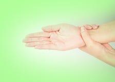 Медицинская серия жеста рукой мытья Стоковая Фотография RF