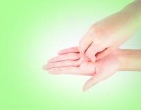 Медицинская серия жеста рукой мытья Стоковая Фотография