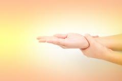 Медицинская серия жеста рукой мытья Стоковые Фотографии RF
