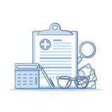 Медицинская страховка и концепция здравоохранения форма медицинской страховки Стоковая Фотография