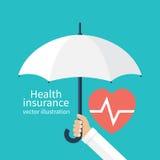 медицинская страховка принципиальной схемы изолированная над белизной иллюстрация вектора