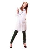 Медицинские Доктор женщины в пальто лаборатории с стетоскопом Стоковое Фото